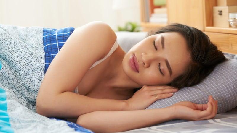 lady sleeping peacefully